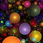 Billions Of Bubbles Art Print by Peggi Wolfe