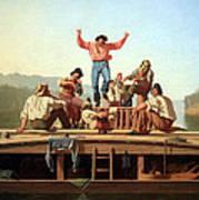 Bingham's The Jolly Flatboatmen Art Print
