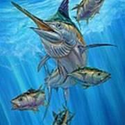 Black Marlin And Albacore Art Print