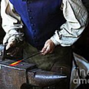 Blacksmith At The Old Fort Art Print