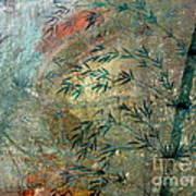 Blue Bamboo Art Print