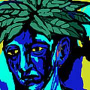 Blue Man Art Print by Moshfegh Rakhsha