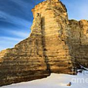 Blue Skies At Monument Rocks Art Print