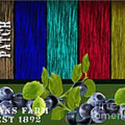 Blueberry Patch Art Print