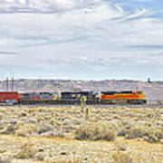Bnsf 9112 Westbound From Boron Art Print