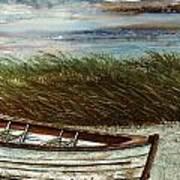 Boat On Shore Art Print