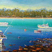 Boats At Merimbula Australia  Art Print