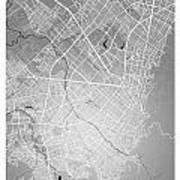 Bogota Street Map - Bogota Colombia Road Map Art On Colored Back Art Print