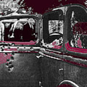 Bonnie And Clyde Death Car South Of Gibsland Toward Sailes Louisiana May 23 1933-2013 Art Print