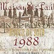 Bordeaux Blanc Label 1 Art Print