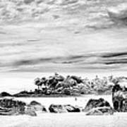 Boulders On The Beach Art Print