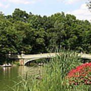 Bow Bridge Over The Lake Art Print