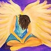 Bowing Angel Art Print