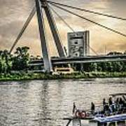 Bratislava Bridge Art Print