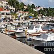 Brela Harbour Croatia Art Print