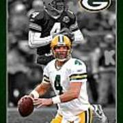 Brett Favre Packers Art Print by Joe Hamilton