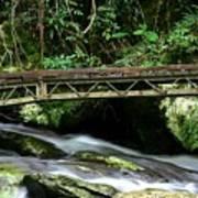 Bridge Over Mountain Stream Art Print