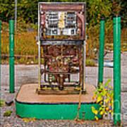 Broken And Abandoned Fuel Pump Art Print