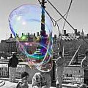 Bubbles Big Ben Art Print