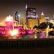 Buckingham Fountain Chicago Art Print by Ed Pettitt
