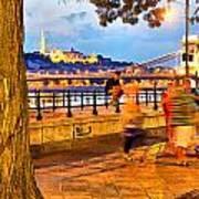 Budapest By Night Paint Art Print