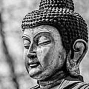 Buddha - Siddhartha Gautama - In Black And White Art Print