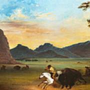 Buffalo Hunt Art Print
