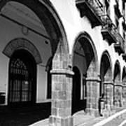Buildings In Ponta Delgada Art Print