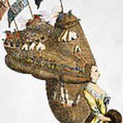 Bunker Hill: Cartoon, 1776 Art Print