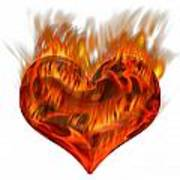 Burning Love  Brennende Liebe Art Print