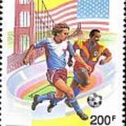 Burundi Stamp Art Print