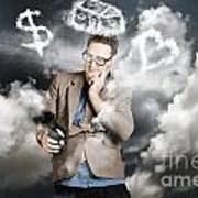 Business Man Planning Work Life Balance Strategy Art Print