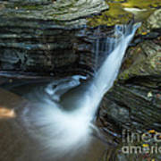 Buttermilk Falls Gorge Trail Art Print by John Naegely