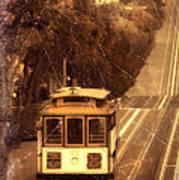 Cable Car In San Francisco Art Print