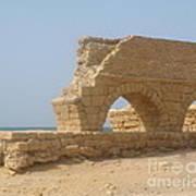 Caesarea Israel Ancient Roman City Port Art Print