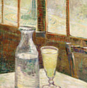 Cafe Table With Absinth  Art Print