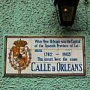 Calle Orleans Art Print