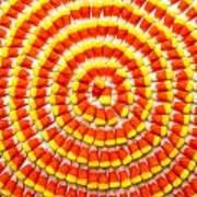 Candy Corn In Circles Art Print