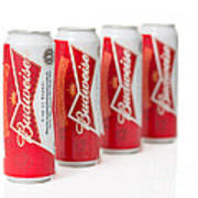 Cans Of Budweiser Beer Art Print