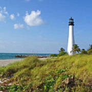 Cape Florida Lighthouse Art Print