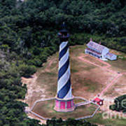 Cape Hatteras Lighthouse From Above Art Print