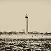 Cape May Lighthouse In Sepia Art Print