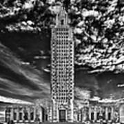Capitol Building Of Louisiana Art Print