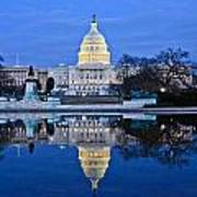 Capitol Reflecting Pool Art Print