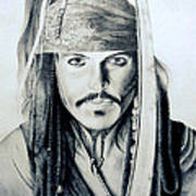 Johny Depp - The Captain Jack Sparrow Art Print