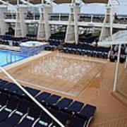 Caribbean Cruise - On Board Ship - 12129 Art Print