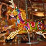 Carousel In Bournemouth Art Print