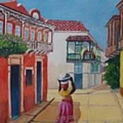 Cartagena Seller Art Print