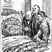 Cartoon: Big Three, 1945 Art Print