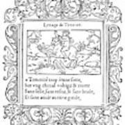 Cartouche, 1543 Art Print